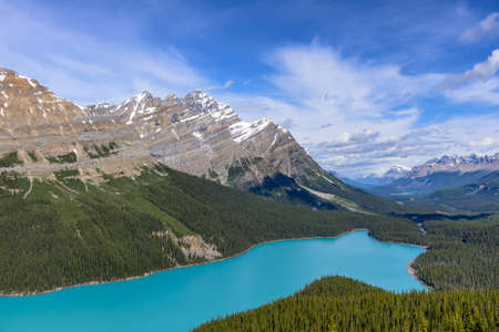 Peyto lake in Banff National Park, Canadian Rockies