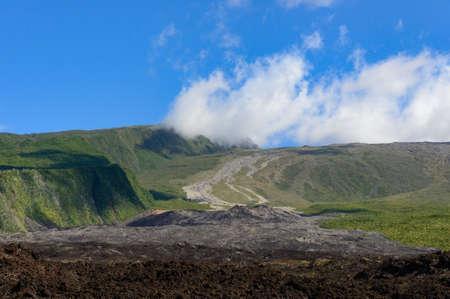 Piton de la fournaise volcano slopes, la Reunion island, France
