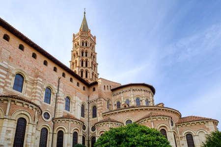 Romanesque basilica of Saint Sernin in Toulouse, Occitanie, France Banco de Imagens