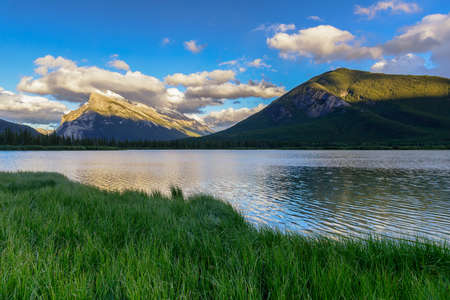 Vermillion lake in summer, Banff National Park, Canadian rockies Stock Photo