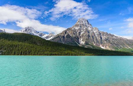 Mistaya lake in Banff National Park, Alberta, Canada Фото со стока