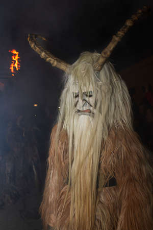 Devils Krampus at a parade in the Czech Republic Stock Photo
