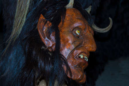 Devils Krampus at a parade in the Czech Republic