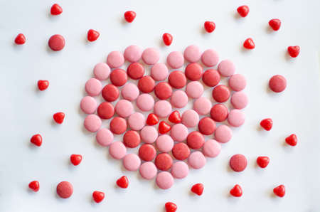 pink and red valentines day heart background to boost sales for your business Stock Photo