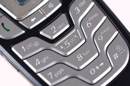 Close up of a cell phone keypad photo