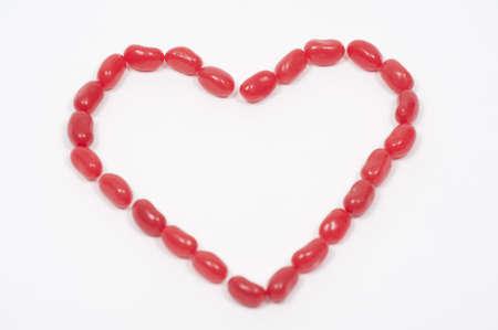 ハートの形をした赤いジェリービーン 写真素材 - 4398268