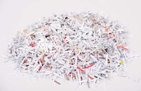 Shredded paper in a pile on a white background Stock Photo - 4398542