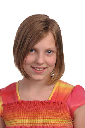 Picture of a young pretty pre teen girl Stock Photo - 4704221