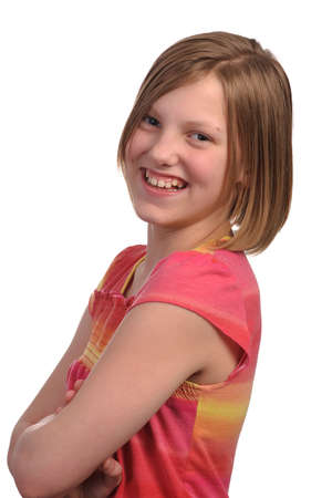 Picture of a young pretty pre teen girl Stock Photo - 4704222