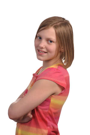 Picture of a young pretty pre teen girl Stock Photo - 4704178