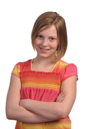 Picture of a young pretty pre teen girl photo
