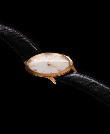 mans watch: A close up de un reloj de pulsera de hombre Foto de archivo