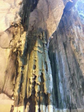 limestone caves: Limestone formations in Batu Caves Malaysia Stock Photo