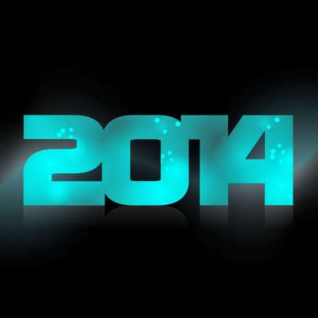 date night: Happy New Year, lighting year 2014  Illustration