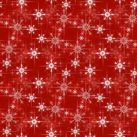 Natale imballaggio cartamodello, sfondo rosso con fiocchi di neve