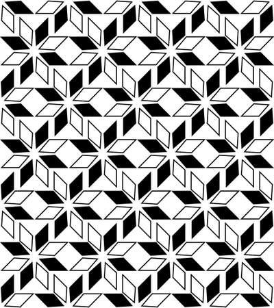 Seamless geometric pattern with stars