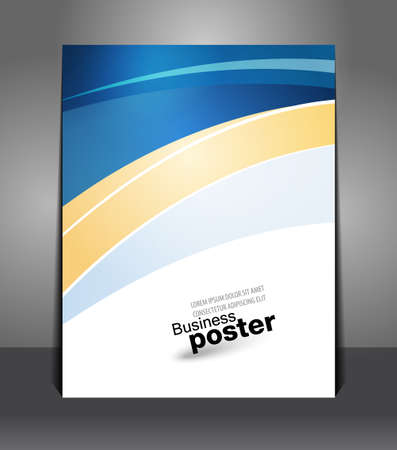 Presentation of business poster