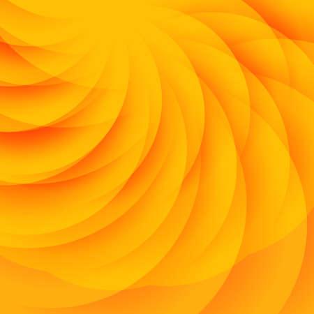 fond abstrait orange: R�sum� fond orange avec demi-cercles transparents Illustration