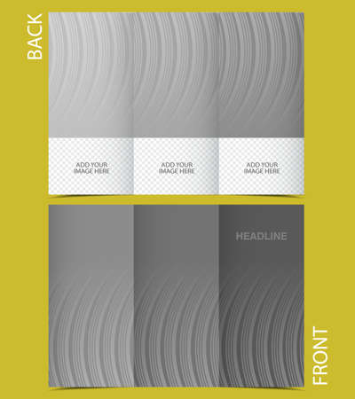 Tri-Fold Corporate Business Presentation Mock up & Brochure Design with gray stripes