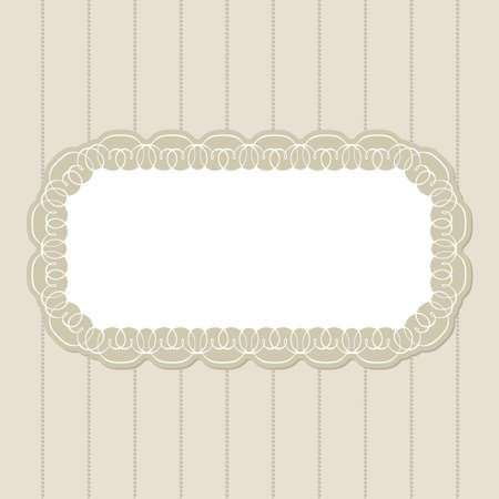 baroque pearl: Vector invitation card with ornament motif beige background Illustration