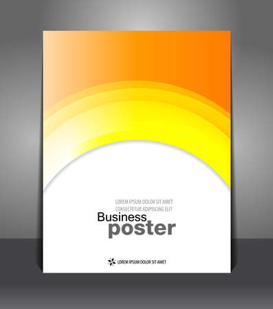 Autumn Stylish presentation of business poster  Vector