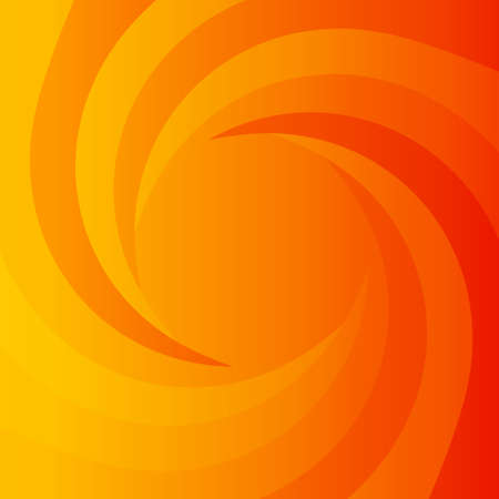 vertigo: Abstract orange power background with whirlpool. Place for your text.  Illustration