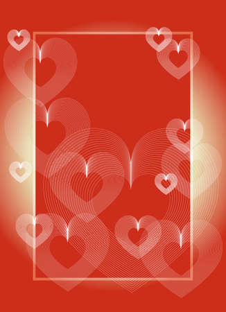 Background with hearts. Use the certificate, currency, diplomas.  Vector