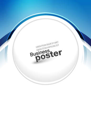 Stylish blue presentation of business poster. Flyer design content background. Design layout template
