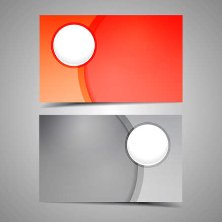 Set vector of modern business card templates  Vector