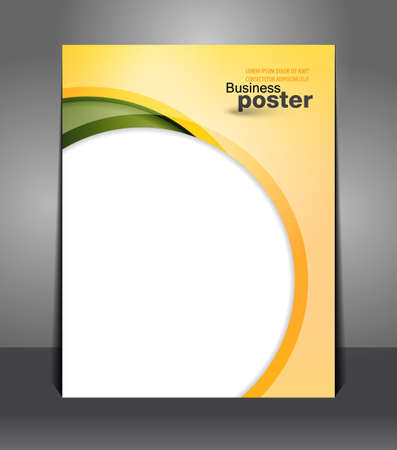 magazine page: Stylish presentation of business poster. Flyer design content. Design layout template  Illustration