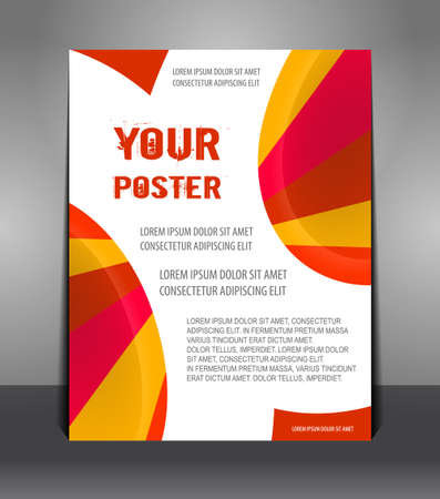 Abstract poster with rays. Flyer design content. Design layout template