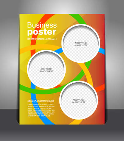 magazine template: design color flyer, magazine cover, poster template