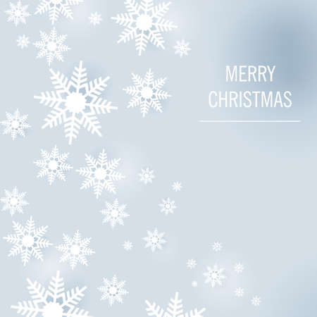 blue Christmas with white snowflakes Vector