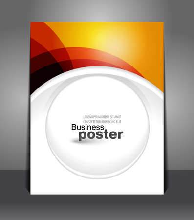Stylish presentation and designer of business poster. Flyer design content background. Design layout template