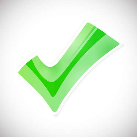 accreditation: Abstract vector green button Approved