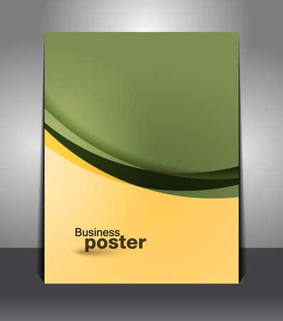 Stylish presentation of business poster. Flyer design content background. Design layout template  Illustration