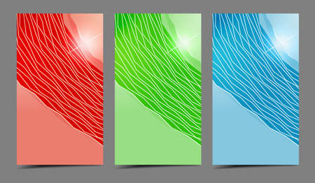 Abstract attractive professional and designer cards. Variety of uses Vector