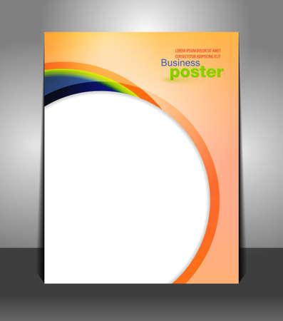 Presentación con estilo del cartel de los negocios. Flyer diseño contenido antecedentes. Plantilla de diseño Diseño