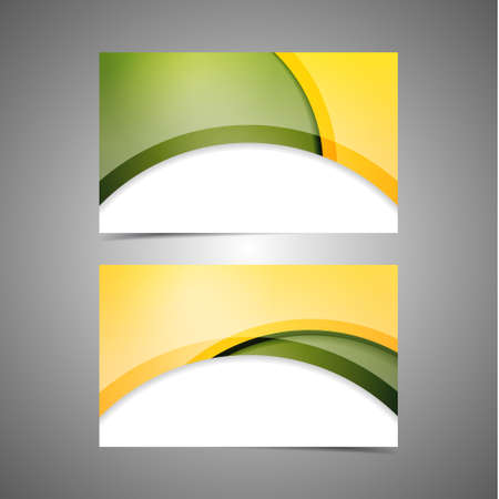 Set vector of modern professional and designer business card templates  Vector