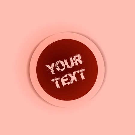 Vector pink button badge Stock Vector - 25210222