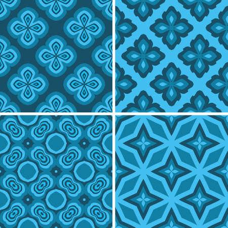 regular: Set seamless decorative pattern, design vector wallpaper