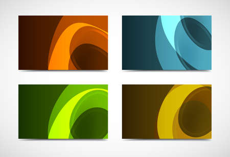 Collection vector of modern color business card templates  Illustration