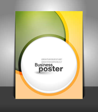 Stylish presentation of business poster. Flyer design content background. Design layout template