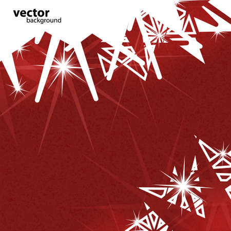 Abstract modern  background with stars. Merry Christmas theme card. Stock Vector - 25308435