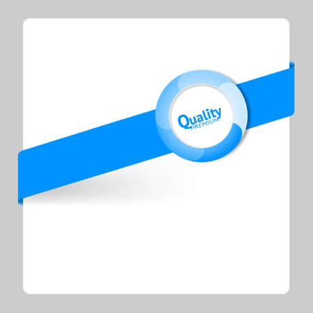 Blue label Premium Quality, card vector illustration Vector