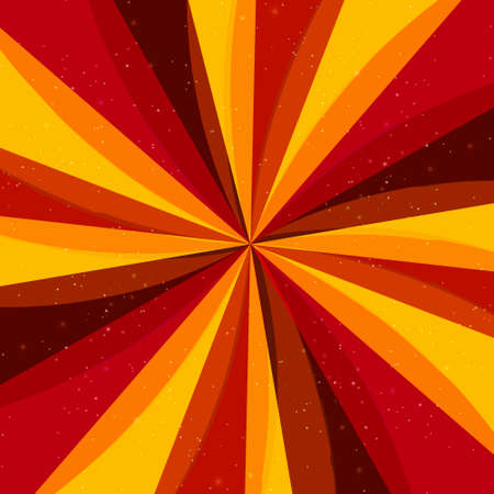 Vector retro abstract background with rays Vector