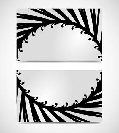 textfield: Vector of modern artistic business card templates