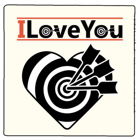 I love you, arrows in the heart Vector