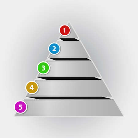Infographic concept pyramid chart with color numbers Vector