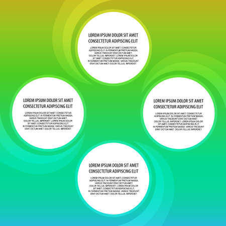 placement: Presentation template with four options for text placement on flow background